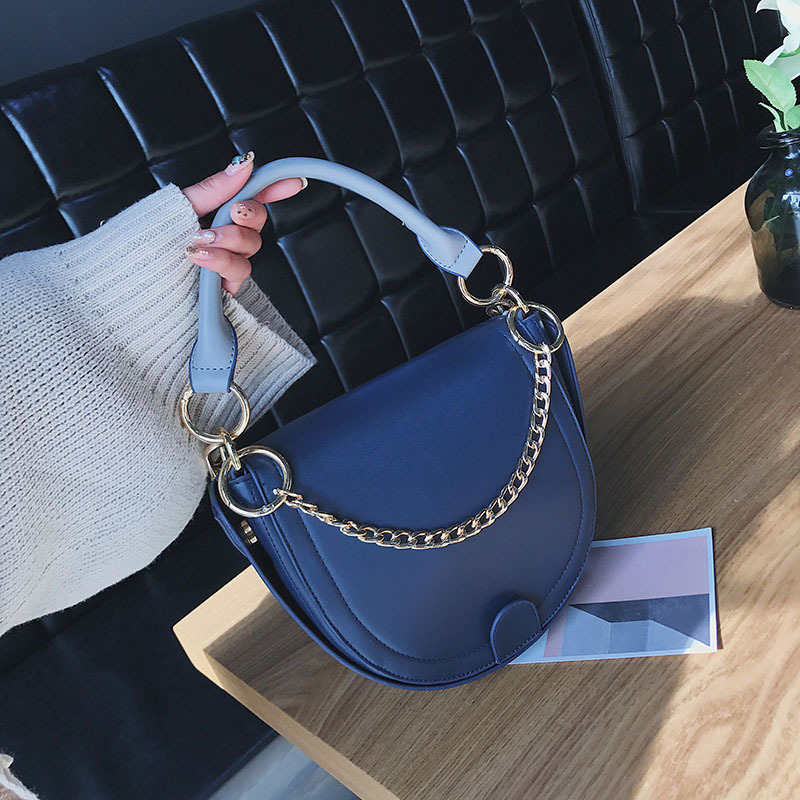 Vintage Satchel for Women Made of PU Leather, Saddle Shoulder Bag with Long Adjustable Strap, Design for Winter and Autumn
