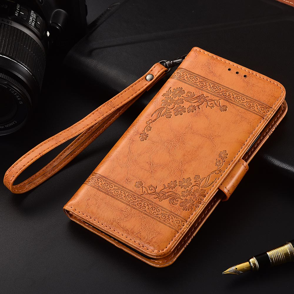 Flip Leather Case For <font><b>DNS</b></font> <font><b>S4501</b></font> S4501M Fundas Printed Flower 100% Special wallet stand case with Strap image