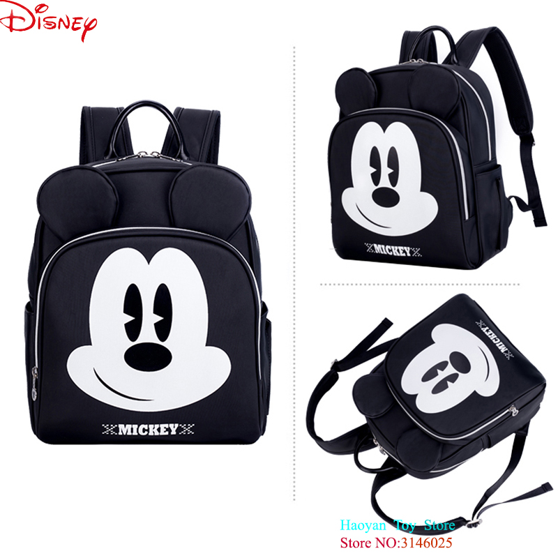 Us 41 91 20 Off Genuine Disney Diaper Bag Extra Large Backpack Fashion Mummy Maternity Pu Bags For Mother Brand Mom Ny Changing In