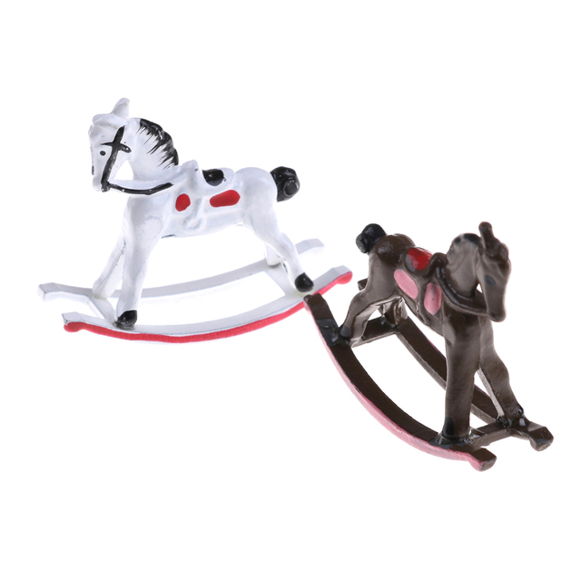 1 12 Scale Dollhouse Miniature Metal Rocking Horse For Dolls House