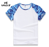 Summer Style Colors Men Camouflage Raglan Men Short Sleeved T Shirts Stretch Cotton Tops Tees Personalized