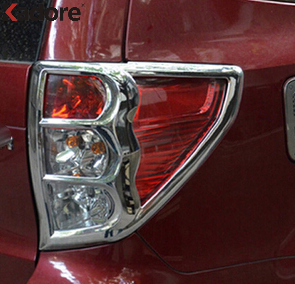 For Subaru Forester 2009 2010 2011 2012 ABS Chrome Taillight Cover Rear Tail Light Lamp Cover