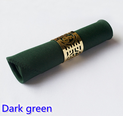 Dark green Napkins plain polyester Napkins for wedding hotel and restaurant table decoration wrinkle and stain resistant