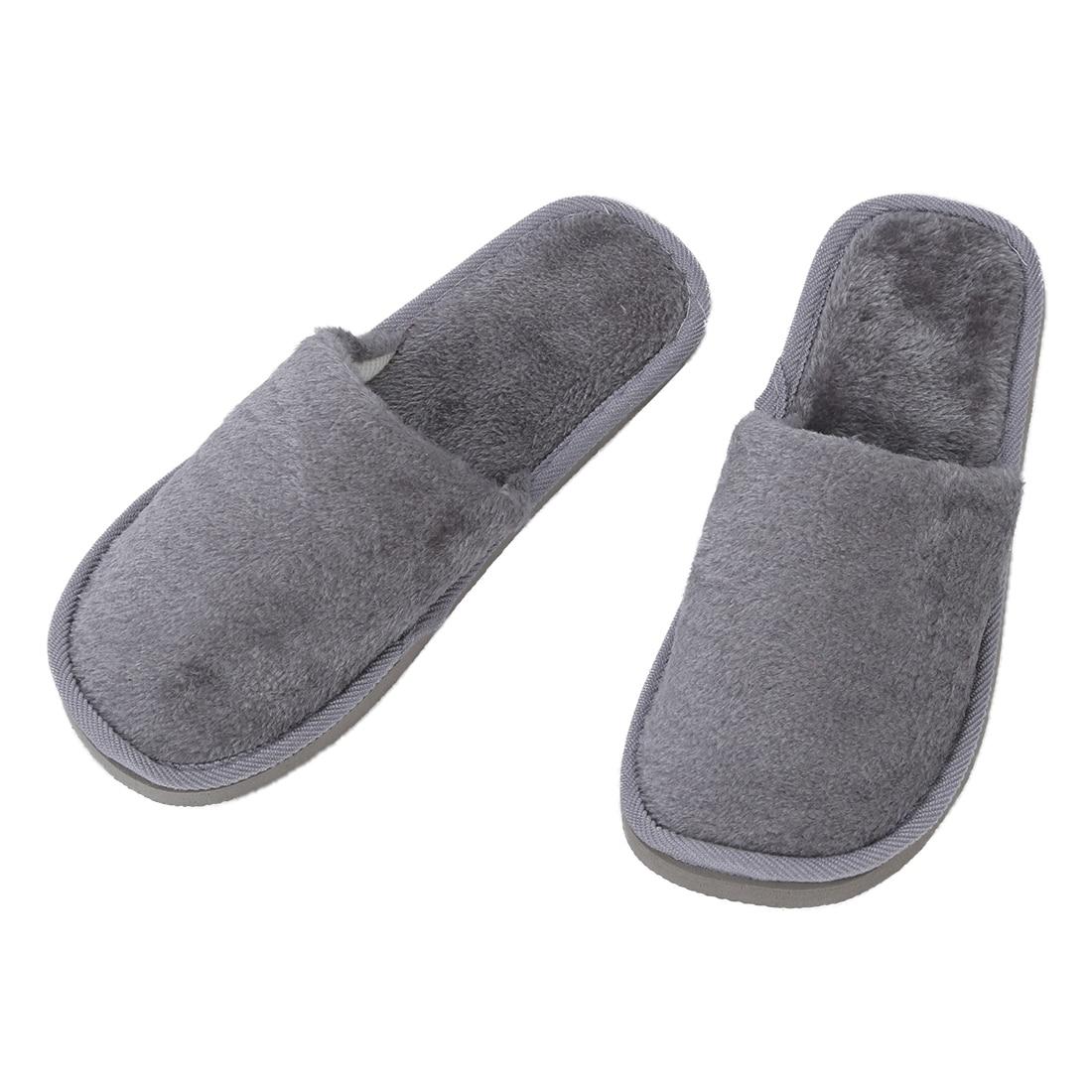 DCOS Uomini Felpe Grigie Casa Morbido Inverno Caldo Pantofole UK 8.5 per I Piedi di Lunghezza 27 centimetri