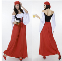 Free Shipping German Beer Festival Dress Dress Maid Outfit Female Pirates Take Halloween Costumes