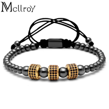 Mcllroy 4mm Titanium Steel Ball & 8mm Micro Pave CZ Beads Br