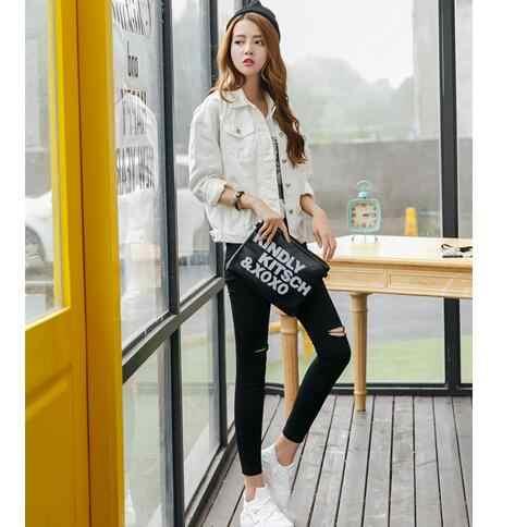 2019 Новая Женская весенне-летняя джинсовая куртка, пальто, винтажная хлопковая белая туника, женское джинсовое пальто, Повседневная Верхняя одежда для девочек, AH84