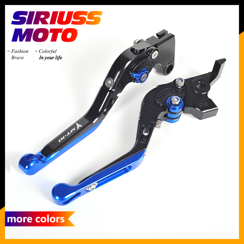 CNC Motorcycle Accessories Foldable Lever Motocross Moto Brake Clutch Levers Case for Yamaha MT-10 MT 10 2016 motorcycle levers clutch and brake folding lever for xl883 1200 x48 moto modification