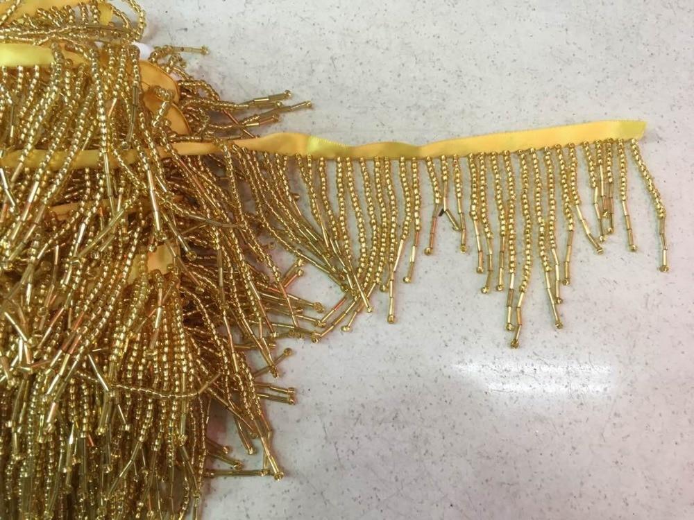 مطرز هامش الشريط تريم هامش الشرابة الرباط تريم CiCi 41904 2 الدرجة العالية مع الذهب الخرز-في دانتيل من المنزل والحديقة على  مجموعة 1