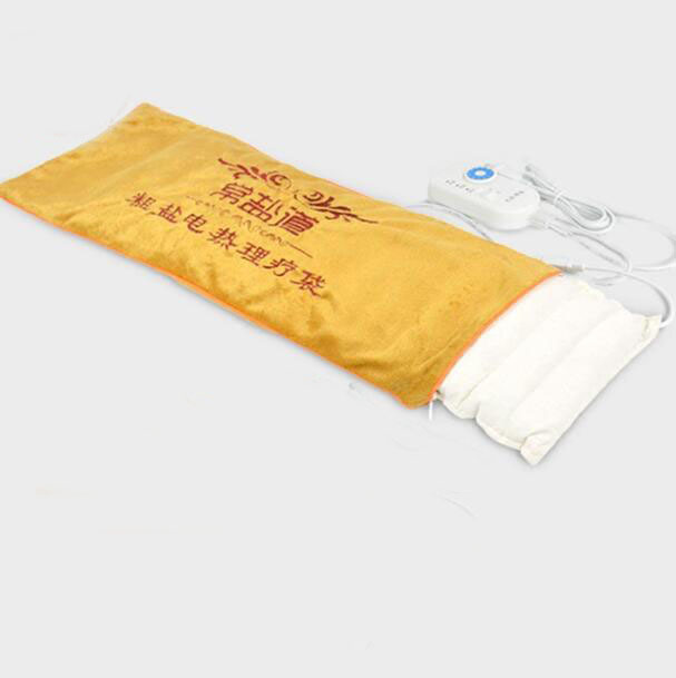 Quality large size electric heating moxibustion salt heat pack acupuncture herb bag cervical knee therapy massage bags