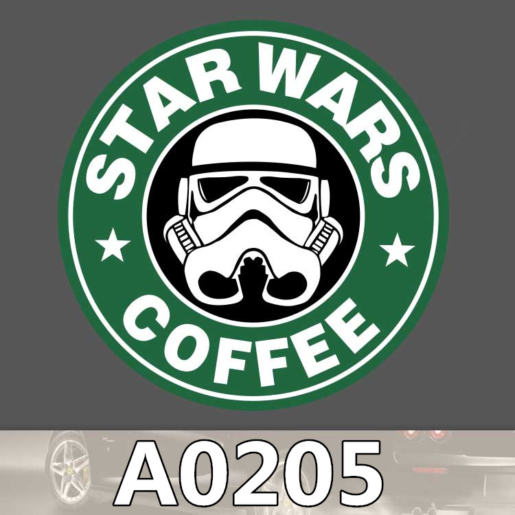 Bevle A0205 Famous Cafe Coffee Waterproof Sticker for Cars Laptop Luggage Skateboard Graffiti Notebook StickersBevle A0205 Famous Cafe Coffee Waterproof Sticker for Cars Laptop Luggage Skateboard Graffiti Notebook Stickers