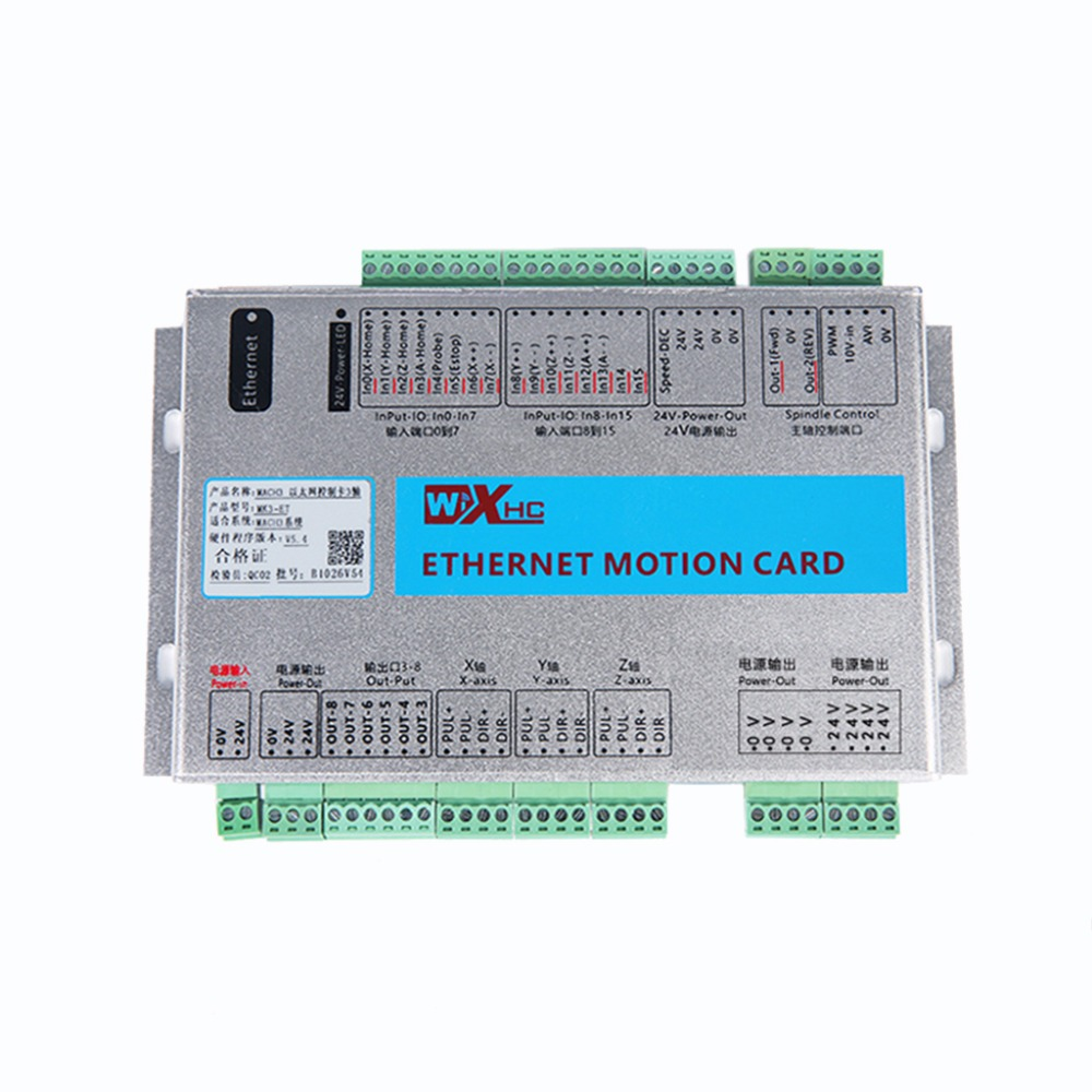 3 Axis Mach3 Ethernet Breakout Board New XHC Ethernet Motion Control Card 5 generation 2000KHZ цена