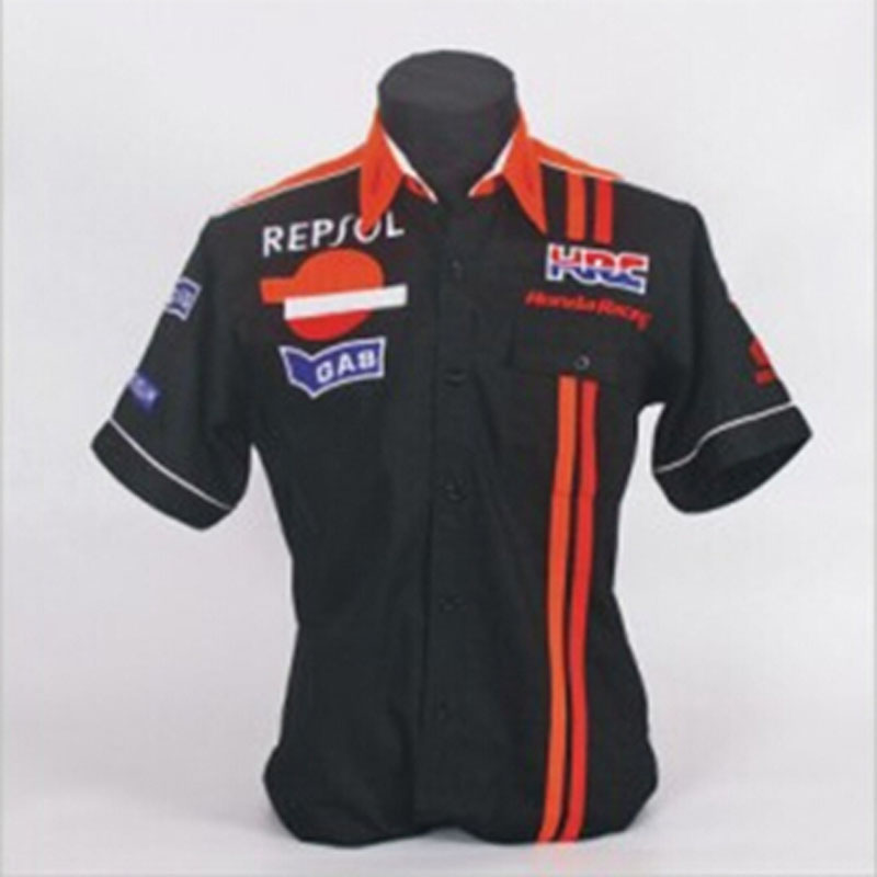 F1 overalls machine repair service auto repair HRC logo beauty work clothes 4S short sleeve dress shirt