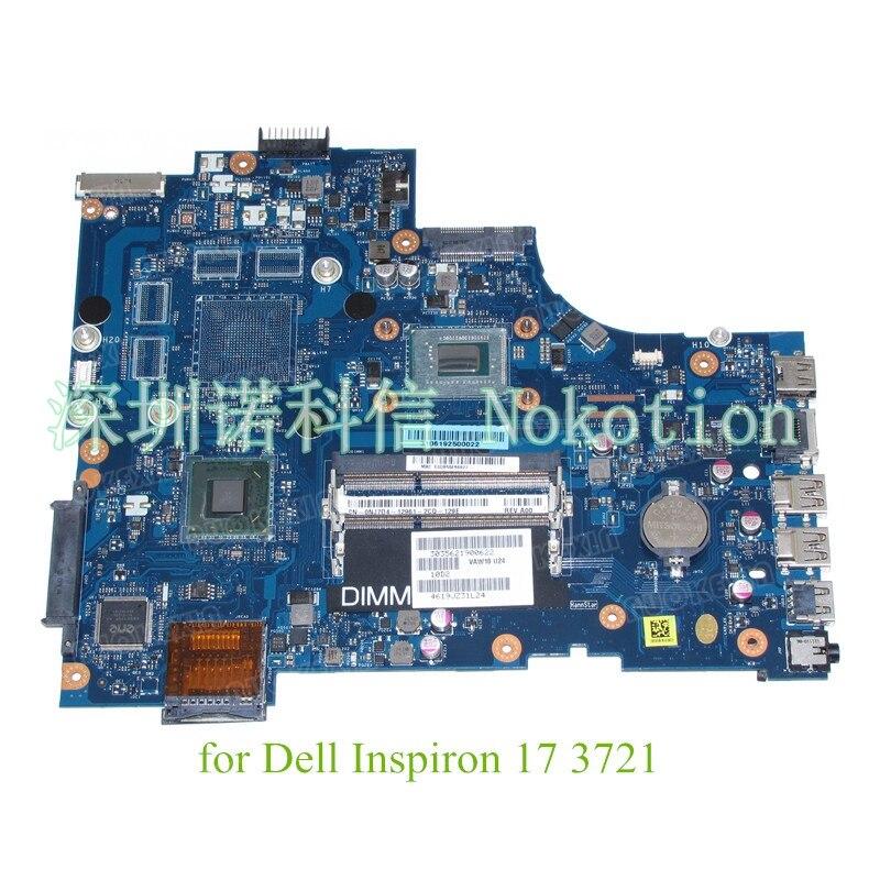 VAW11 LA-9102P CN-0NJ7D4 For Dell Inspiron 17 3721 laptop motherboard SR0VQ Intel Pentium 2117U HD Graphics 17.3