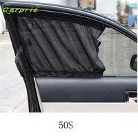 Dropship Hot Selling 2X Car Sun Shade Side Nylon Mesh Window Curtain 71 47cm Foldable Sunshade