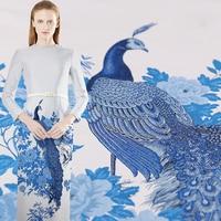 Hot Sale Yarn Dyed Brocade Fabric Nylon Fabrics Tissu au Metre Tecidos de Patchwork Fashion Telas For Dress Sewing Clothing DIY