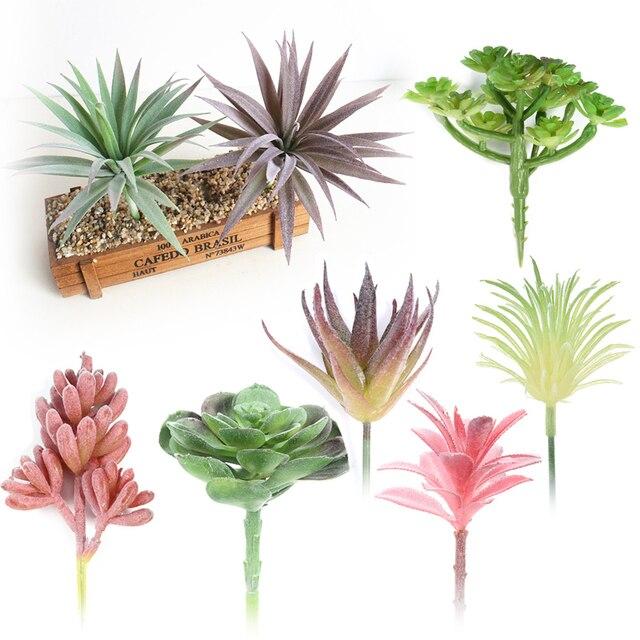 Различные реалистичные Мини Искусственные мясистые растения цветы листва пластиковые растения искусственный цветок для свадьбы Рождественская вечеринка домашний декор