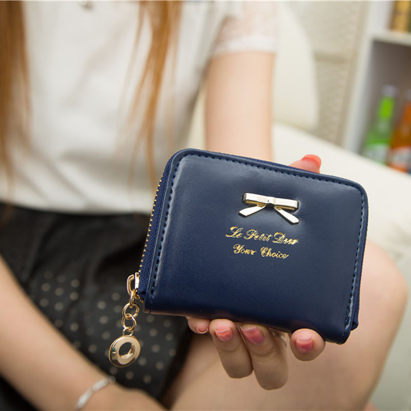 Hot Sale Women Fashion Cute Purse Clutch Solid Ladies Wallet Short Small Bag PU Card Holder Party Purse New 2017 hottest women short design gradient color coin purse cute ladies wallet bags pu leather handbags card holder clutch purse