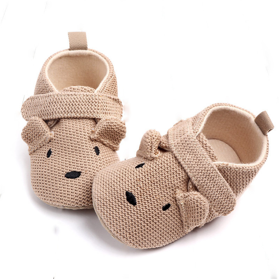 2019 New Arrival Toddler Newborn Baby Boys Girls Animal Crib Shoes Infant Cartoon Soft Sole Non-slip Cute Warm Animal Baby Shoes