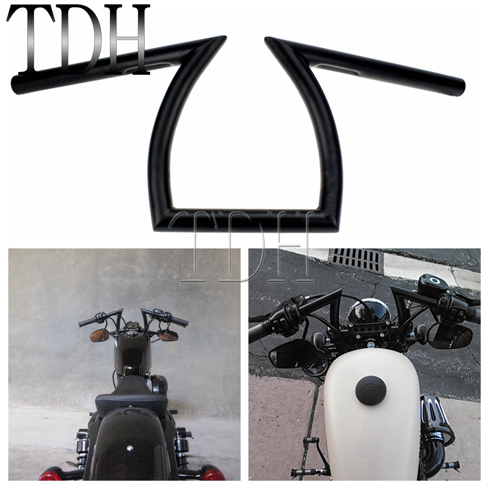 7//8/'/' Black Motorcycle Drag Bar Handlebars 32/'/' Wide Fit Honda Suzuki Yamaha