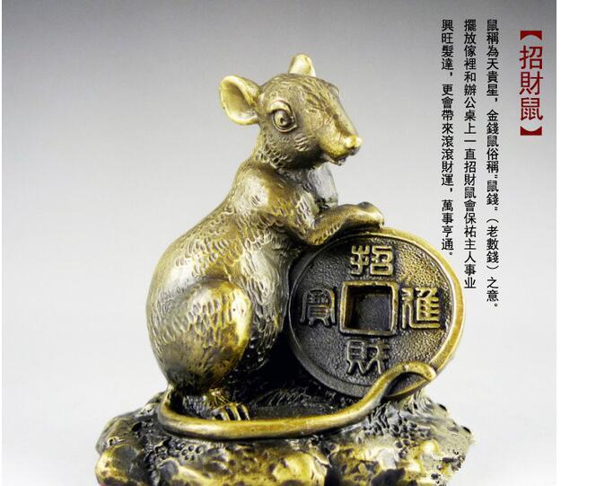 Ratte maus eichhörnchen stadthaus sternzeichen tier nachahmung reines kupfer handwerk maus haushalt handwerk skulptur statuen Hause
