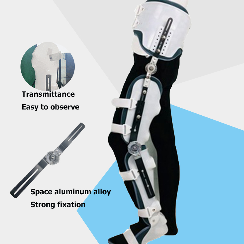 FULI hip support orthopedic orthosis fracture protector knee joint foot (right)Semi paralyzed bed