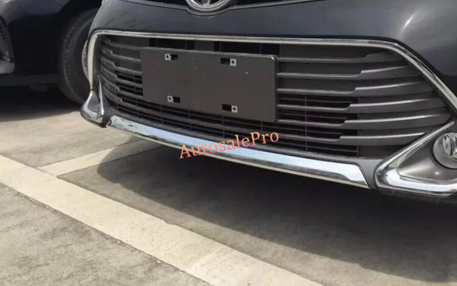 ABS Chrome Front Bottom Grill Grille Bumper Protector trim Cover 1Pcs for Toyota Camry 2015