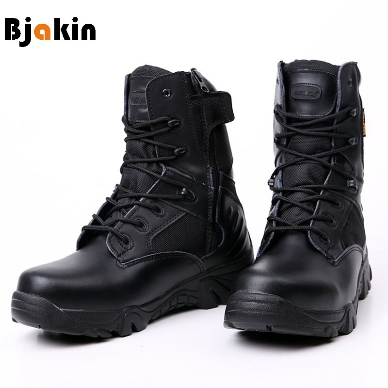 Bjakin DELTA Hiking Shoes Men Professional Tactical Boots Black Waterproof Climbing Sneakers Sports Mountain Boots Size 39-47