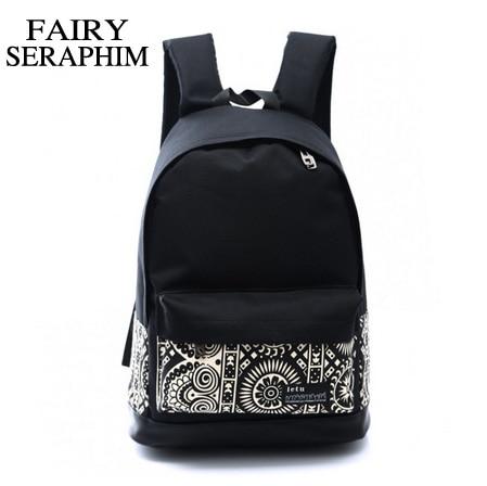 FAIRY SERAPHIM Korean fashion teenagers backpacks women fashion trend casual backpack students flower prints school bags