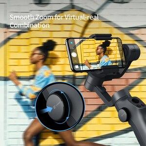Image 2 - Funsnap Caputure 2 Smartphone 3 Achse Gimba Action Kamera Gimbal für IOS Andriod Gopro 7 6 5 EKEN Yi Gimbal kit mit LED Mic