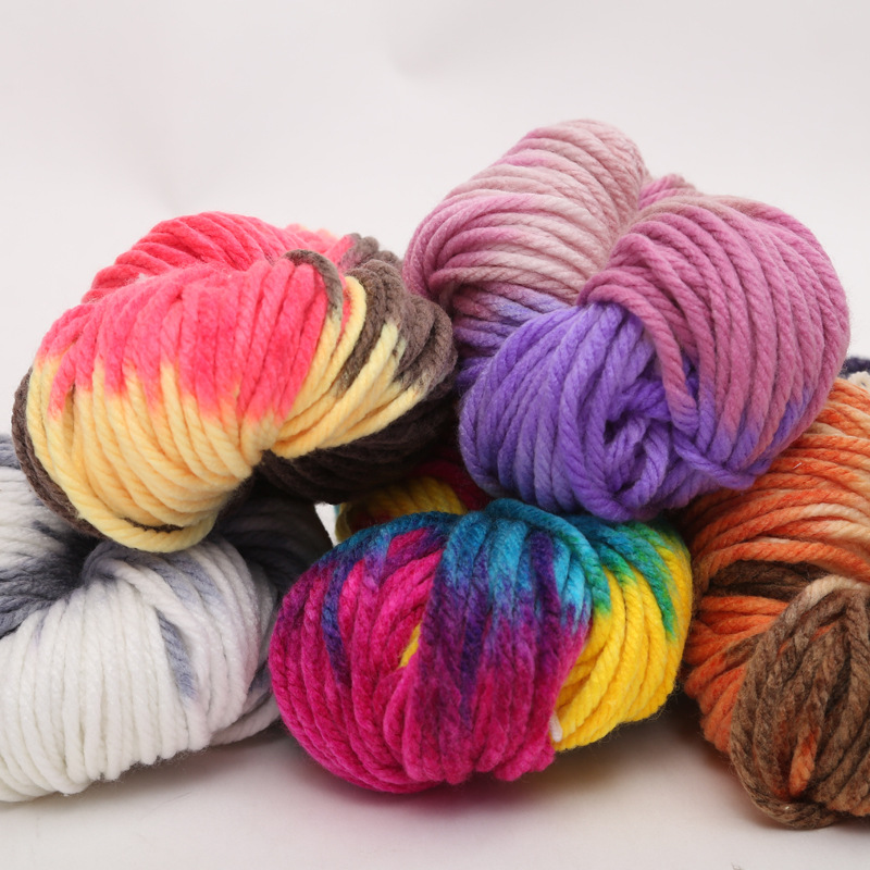 250g/pc New Soft Thick Chunky Acrylic Yarn For Knitting Hand Knitted Hat And Scarf Yarn