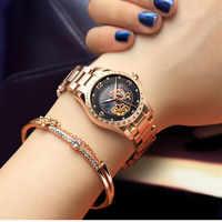 Carnaval marque strass horloge de luxe montre femmes étanche mécanique montres dame relogio féminin reloj mujer montre