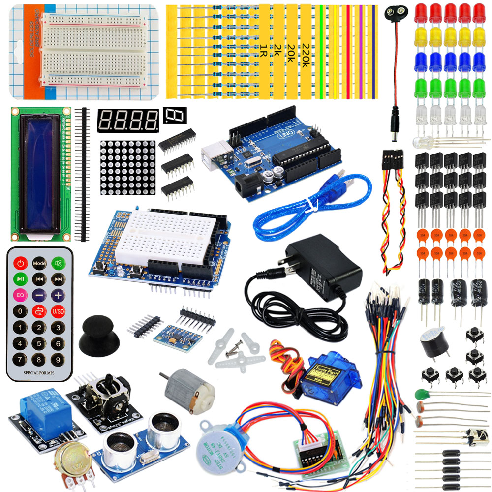KEYES learning kit with a dedicated power supply 9V 1A for arduino
