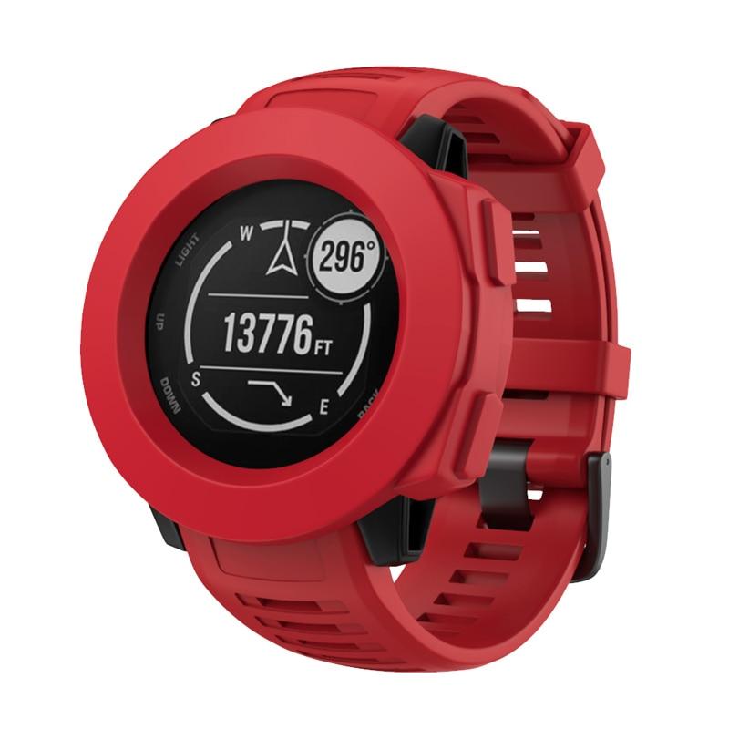 2019 Fashion Smart Horloge Siliconen Case Cover Frame Beschermende Shell Guard Voor Garmin Instinct Nk-winkelen Mooi En Kleurrijk