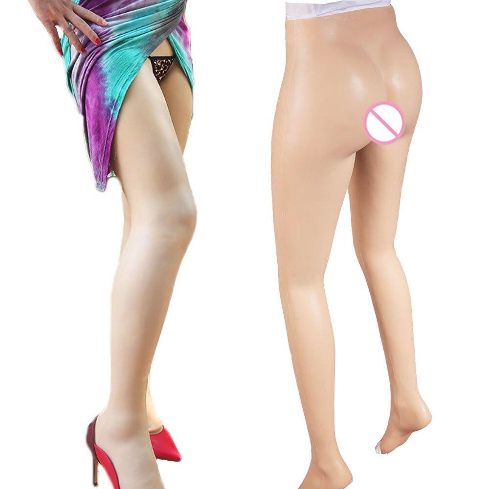 NOVO! calças transgêneros Crossdressing Falso Da Vagina Artificial para crossdresser Cueca ladyboy transsexual drag queen falso buceta