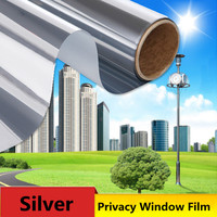 SUNICE Silver One Way Mirror Window Film Solar Tint Reflective Privacy Anti UV Stickers