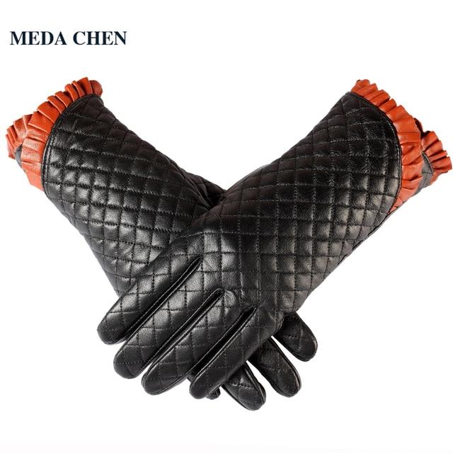 trova fattura scarpe sportive vendita ufficiale US $49.95 |Plaid classico guanti in pelle, Polso bocca pizzo blu, In Vera  Pelle, Cotone, Adulto nero guanti di cuoio di inverno, guanti di cuoio  delle ...