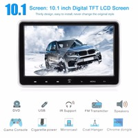 New 10.1 Inch LCD Digital Screen Headrest Monitor Universal Car Headrest DVD Player Portable HDMI Media Player Vehicle Parts