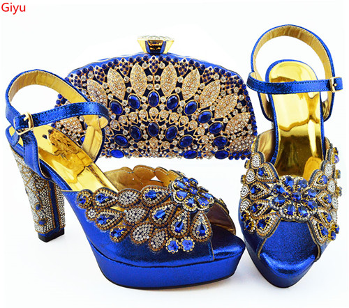 doershow beautiful blue Shoes With Matching Bags African Women Shoes and Bags Set For Prom Party Summer Sandal!!SKP1-31doershow beautiful blue Shoes With Matching Bags African Women Shoes and Bags Set For Prom Party Summer Sandal!!SKP1-31