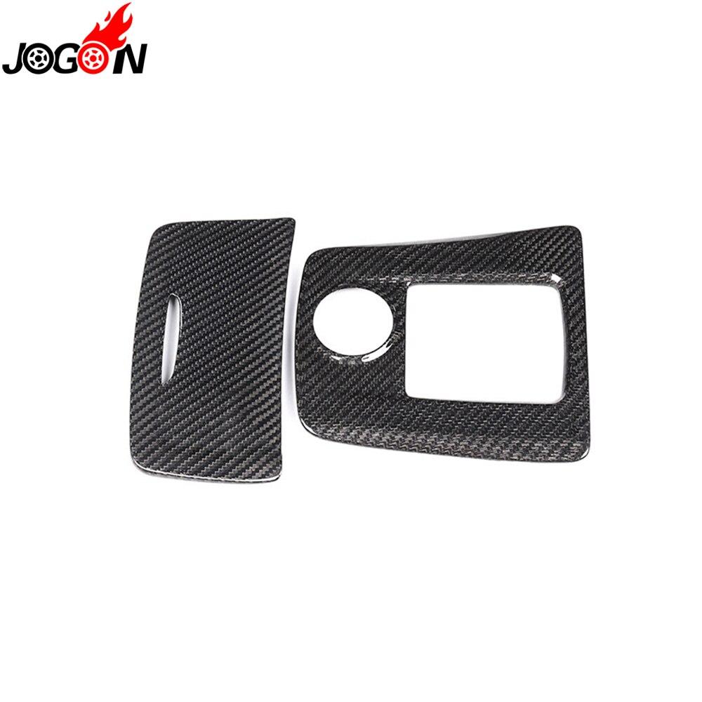 Center Cigarette Ashtray Box Gear Shift Panel Cover Trim Carbon Fiber For Benz A CLA GLA