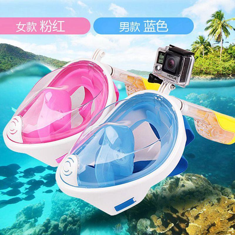 ФОТО 2017 free snorkeling mask Full dry diving anti fog full face diving masks Shatterproof liquid silicone swimming masks swimwears