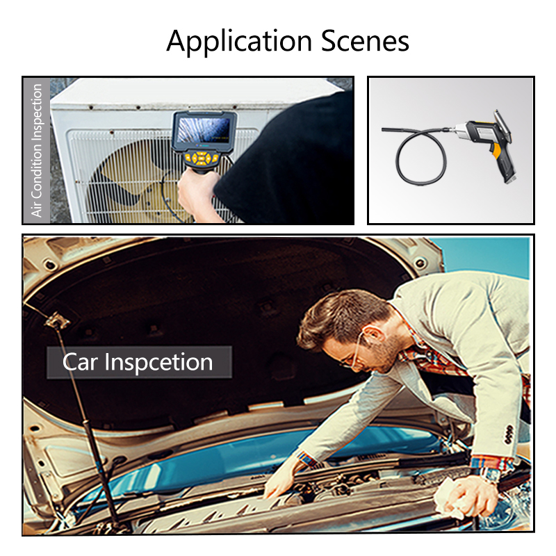 Image 5 - Antscope 1080P HD 8mm Industrial Endoscope 4.3 Inch Car Inspection Camera Handheld 1/3/5/10m Endoscope Snake Tube Hard Camera 19-in Surveillance Cameras from Security & Protection