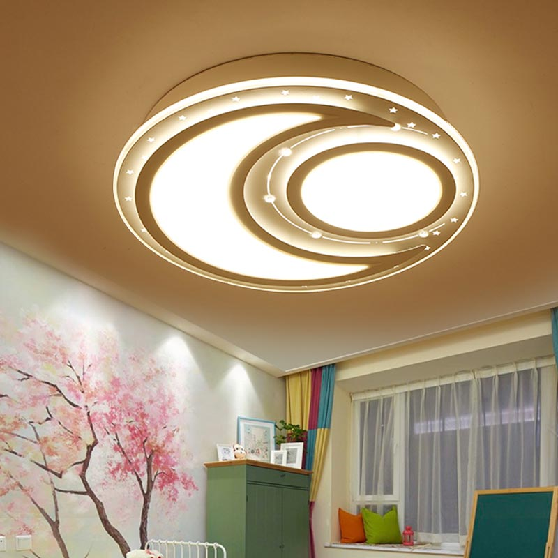 Modern Remote Control Led Lamp Ceiling Light Fixture Living Room Bedroom Christmas Decoration For Home Lighting White Metal 220V black and white round lamp modern led light remote control dimmer ceiling lighting home fixtures