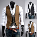 Fashion slim high quality blazer vest men from factory wholesale 2 pieces a lot dropship
