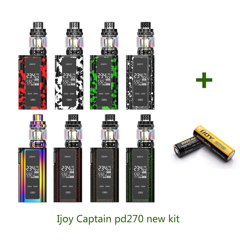 Оригинал IJOY капитан PD270 Новый комплект с IJOY капитан 234 Вт новая коробка Mod Diamond sub Ом танк электронные сигареты испаритель Vape