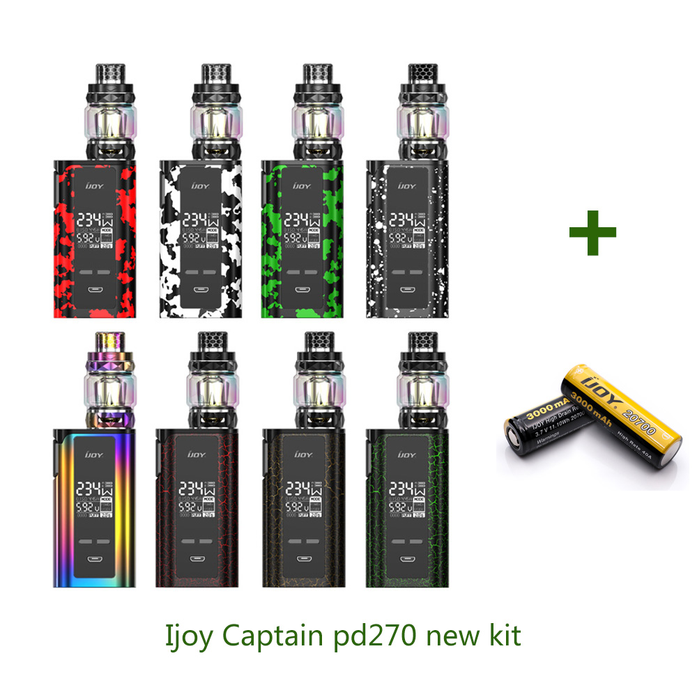 Original IJOY Captain PD270 New kit with IJOY Captain 234w new Box Mod Diamond sub ohm Tank Electronic Cigarettes Vaporizer Vape original ijoy saber 100 20700 vw kit max 100w saber 100 kit with diamond subohm tank 5 5ml