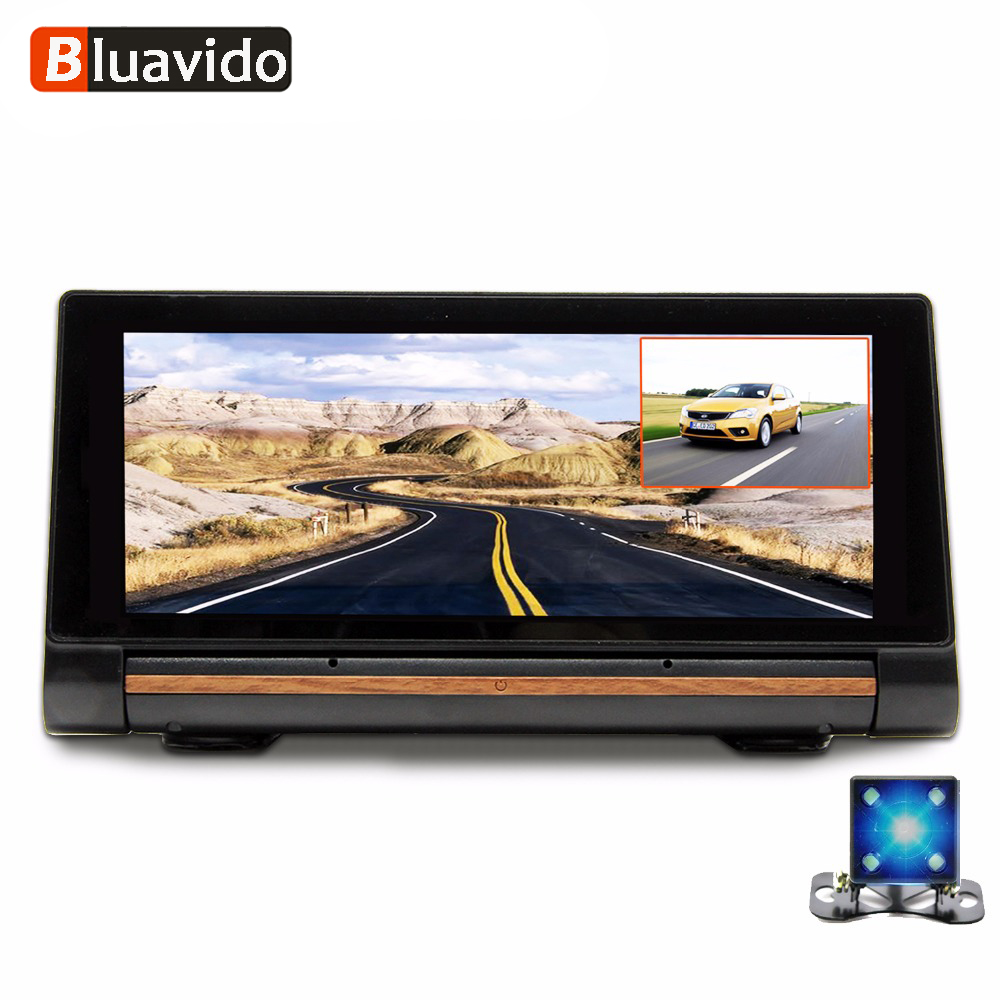 Bluavido 7 Inch 3G Android Car DVR Camera GPS Navigation FHD 1080P Dual Lens automotive Video Recorder WiFi monitor Bluetooth 1 6 scale figure doll clothes for 12 action figure doll accessories female sexy dress not include doll and other accessories