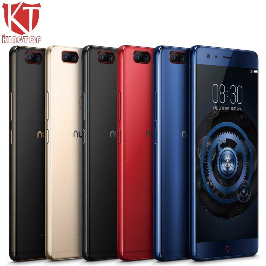 D'origine ZTE Nubia Z17 Sans Frontières Mobile Téléphone 6/8 gb RAM 64/128 gb ROM Snapdragon 835 Octa core 5.5 23MP Android 7.1 Cellulaire Téléphone