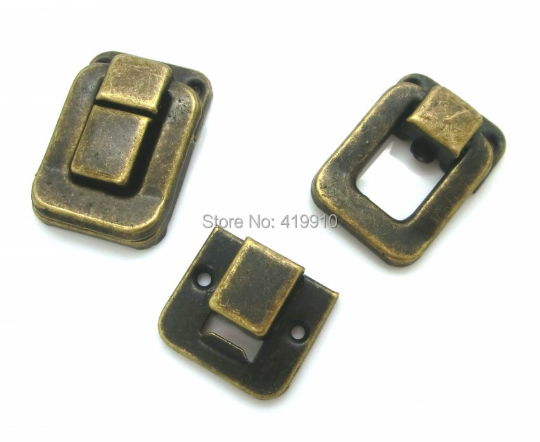 Free Shipping-10 Sets Toggle Catch Latch Suitcase Case Box Trunk Box Antique Bronze 3.8cm x 2.7cm 2.7cm x 2.4cm,M01351 old antique bronze doctor who theme quartz pendant pocket watch with chain necklace free shipping