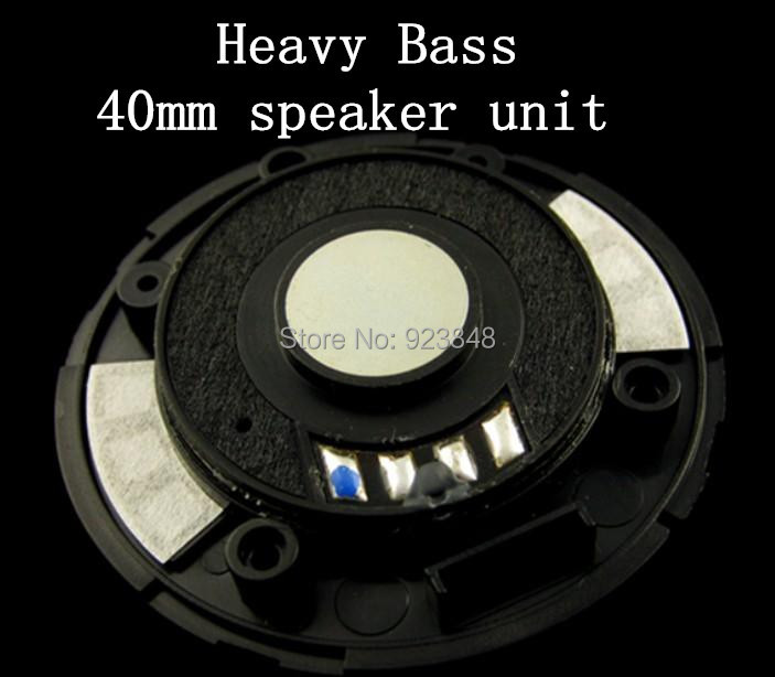 40MM font b speaker b font unit headset driver Heavy bass unit 1pair 2pcs
